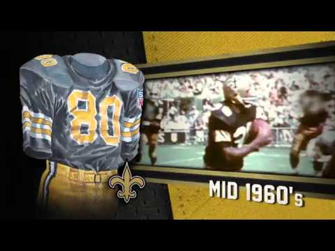 New Orleans Saints Uniform and Uniform Color History Video