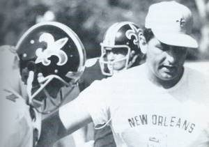 Picture of the New Orleans Saints 1969 Black Helmet