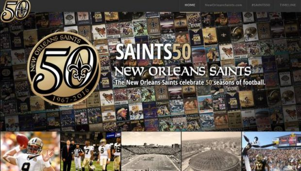 New Orleans Saints 50th Anniversary Site