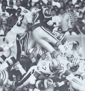 Goal Line stand by the Saints defense against the Rams in 1988