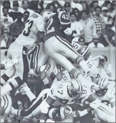 New Orleans Saints Defense Goal Line Stand against Rams 1988-FB