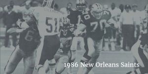 1986 Saints Offense