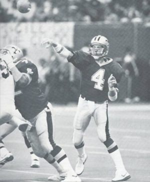 Saints Quarterback Steve Walsh