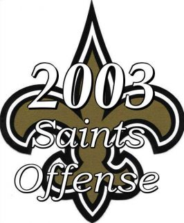 Statistics of the 2003 New Orleans Saints NFL Season