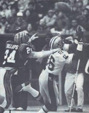 Mike Jones TD catch against Bengals – 1987 New Orleans Saints