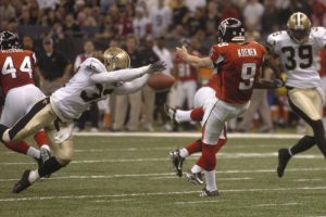 Steve Gleason's blocks the Falcons Punt on Monday Night Football