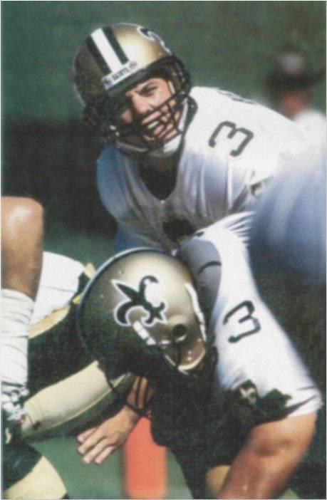 New Orleans Saints Quarterback Bobby Hebert in 1987