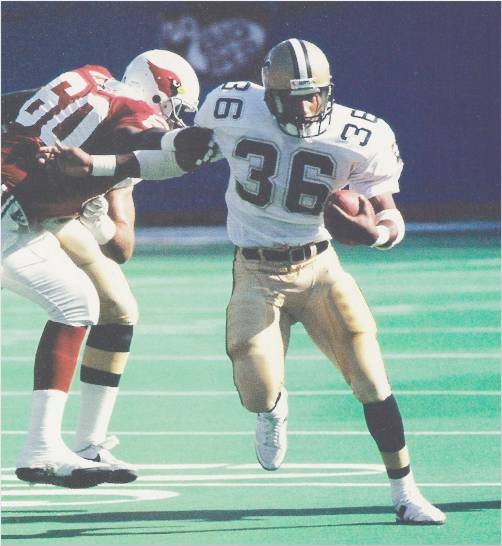 Saints Reuben Mayes as a rookie in 1986