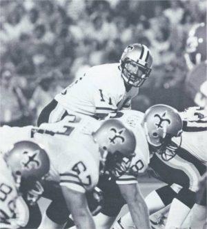 Saints Quarterback Richard Todd in 1984