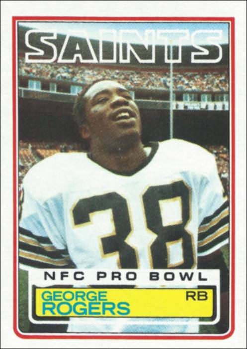 New Orleans Saints 1983 George Rogers Topps Trading Card