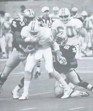 Pat Swilling and Frank Warren take down Bucs QB Vinnie Testaverde in 1987