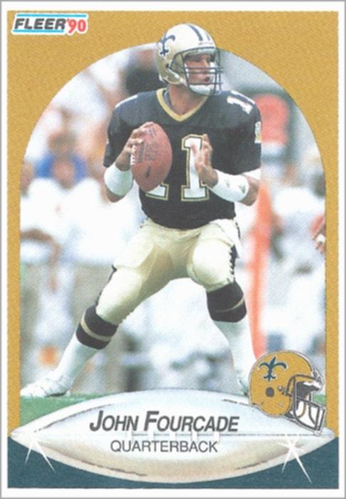 QB John Fourcade's 1990 Fleer Card