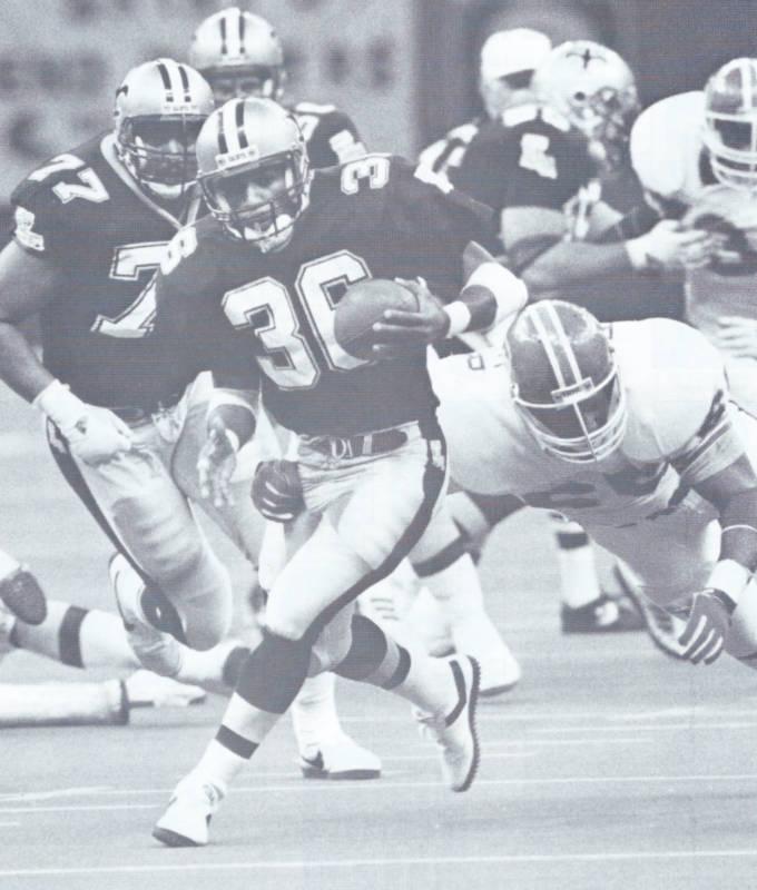 Reuben Mayes Big Run Against Denver   1988 New Orleans Saints