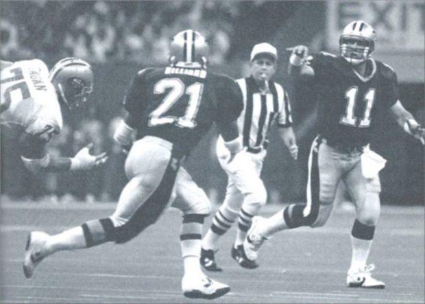 1990 New Orleans Saints- John Fourcade passes to Dalton Hilliard