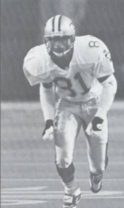New Orleans Saints Wide Receiver Michael Haynes in 1994