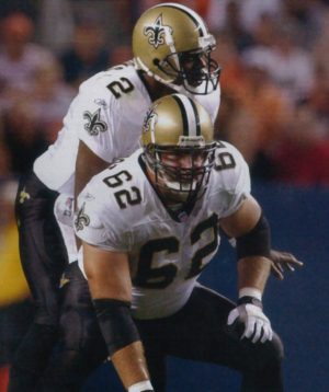 Saints Players Jerry Fontenot and Aaron Brooks in 2001