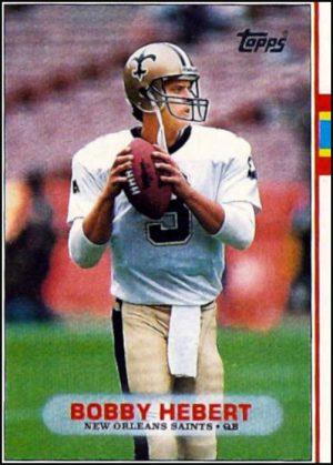 Bobby Hebert 1989 Saints Topps Card