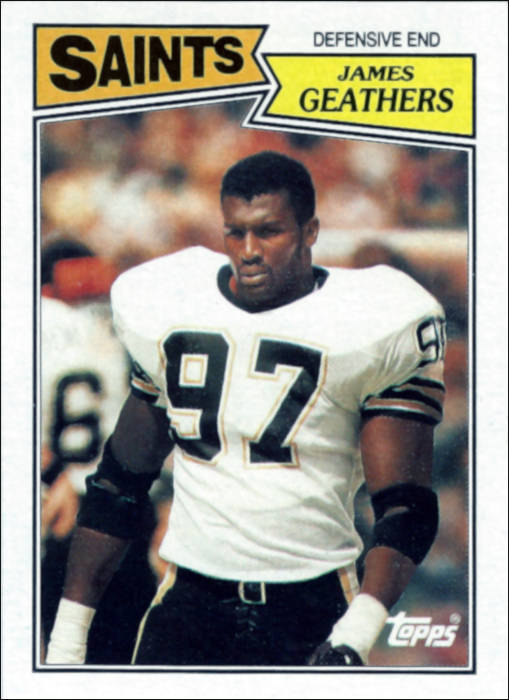 Jumpy Geathers 1987 Topps Football Card