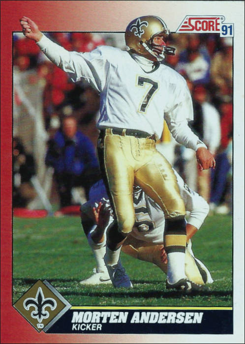 Saints Kicker Morten Andersen 1991 Score Card