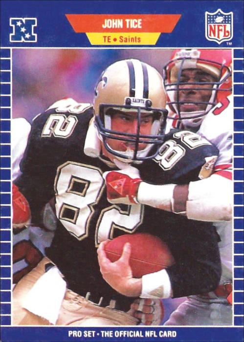 Saints Tight End John Tice 1989 Pro Set Card