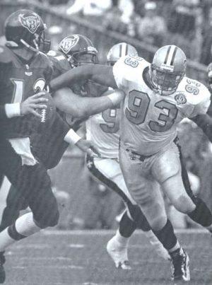New Orleans Saints Defensive Lineman Wayne Martin in 1996