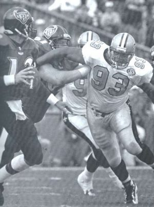 New Orleans Saints Defensive Lineman Wayne Martin in 1996