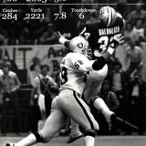 Tony Galbreath and his famous one-handed TD on Monday Night Football in 1979.
