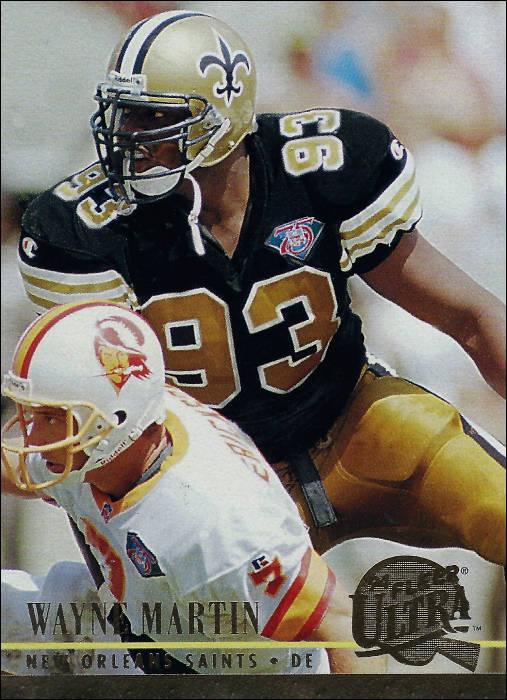Wayne Martin New Orleans Saints Fleer Card 1994