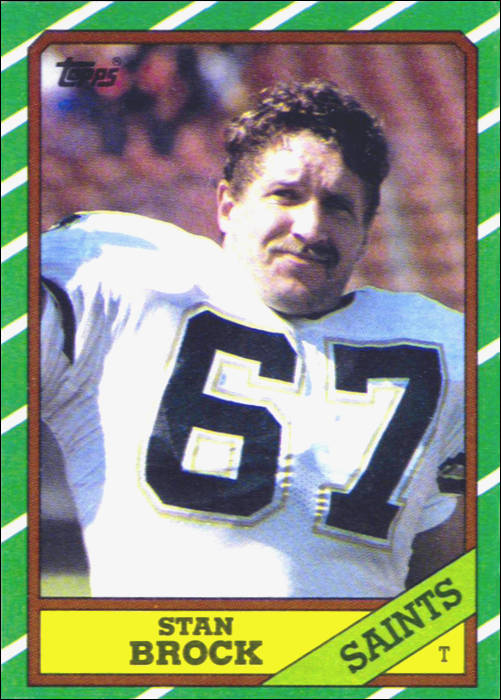 Stan Brock 1986 New Orleans Saints Topps Card