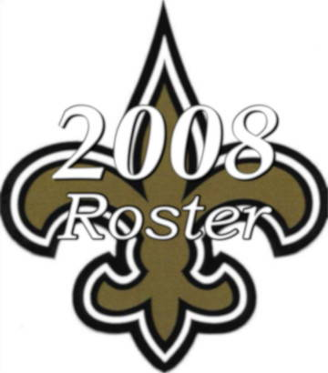 2008 New Orleans Saints Team Season Roster