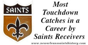 Most Touchdown Catches in a Career by Saints Receivers