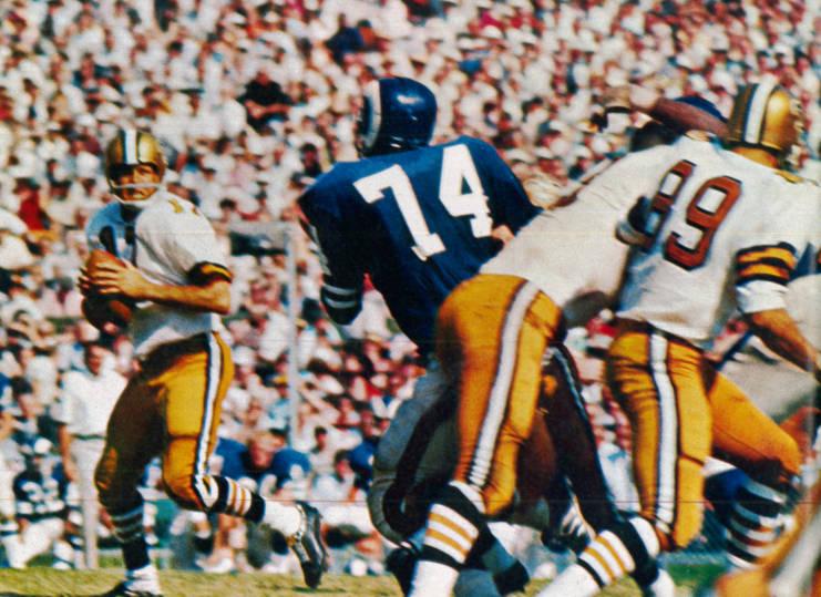 Billy Kilmer & Merlin Olsen Saints Rams 1967