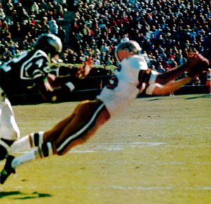 Danny- Aramowicz in 1967 Making a Catch a Against the Eagles