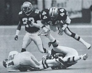 Dave Waymer, Sam Mills and Gene Atkins | New Orleans Saints vs Philadelphia Eagles in1989