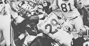 New Orleans Saints Defense Stops Rams Eric Dickerson-1986