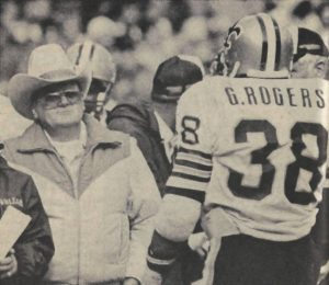 Bum Phillips with George Rogers New Orleans Saints