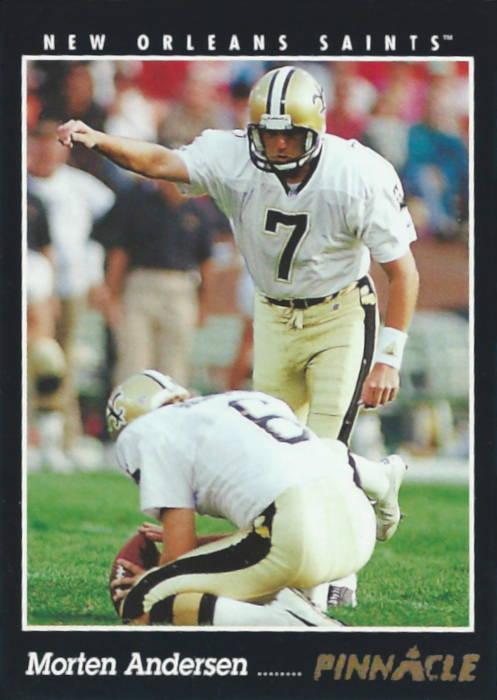 Morten Andersen 1993 New Orleans Saints Pinnacle Card