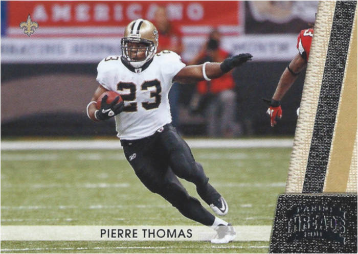 Pierre Thomas 2011 New Orleans Saints Panini Threads Card