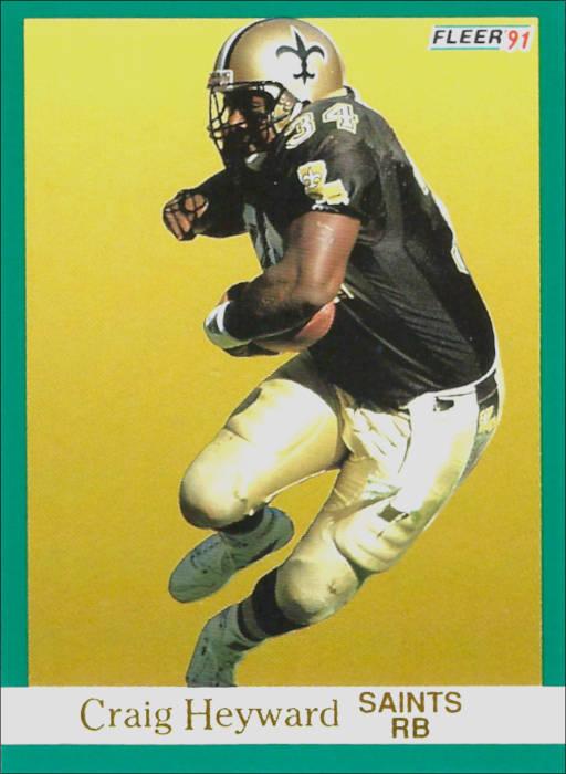 Craig Heyward 1991 New Orleans Saints Fleer Football Card