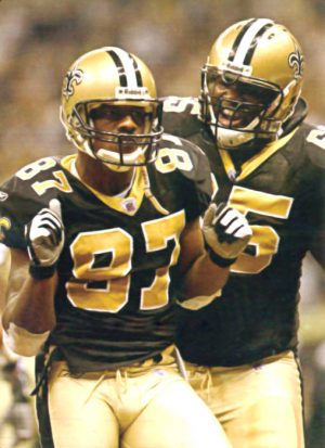Joe Horn and Lecharles Bently in 2003 | New Orleans Saints