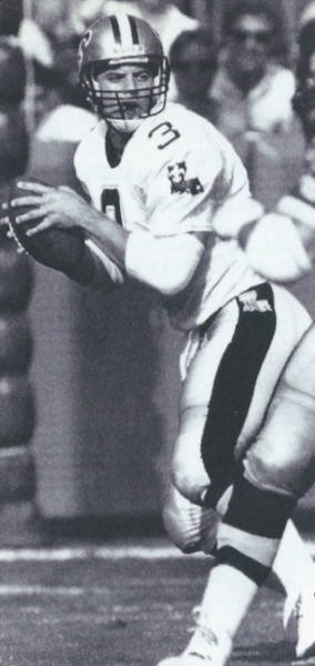 Bobby Hebert 1989 New Orleans Saints Quarterback