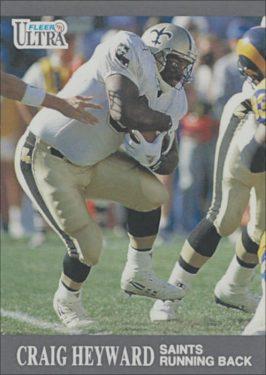 Craig Heyward 1991 New Orleans Saints Ultra Fleer Football Card