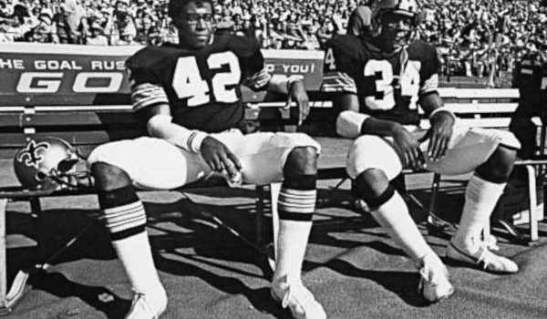 Saints Backfield Tandem of Chuck Muncie and Tony Galbreath on the sidelines