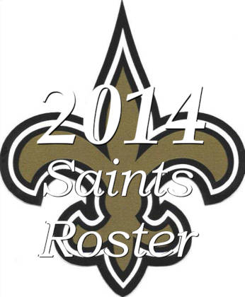 2014 New Orleans Saints NFL Season Team Roster