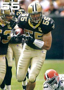 Scott Fujita of the 2006 New Orleans Saints Defense