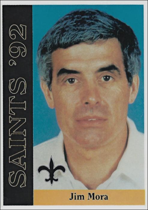 Jim Mora 1992 New Orleans Saints McDag Football Card