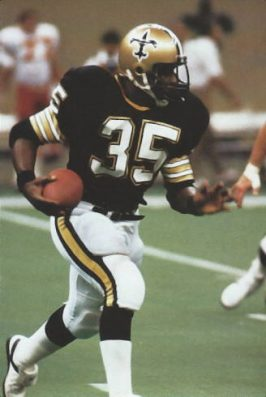 Former Oiler Earl Campbell joined the Saints in 1984.