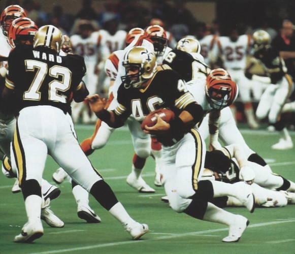 Hokie Gajan Carries Against the Bengals in 1984