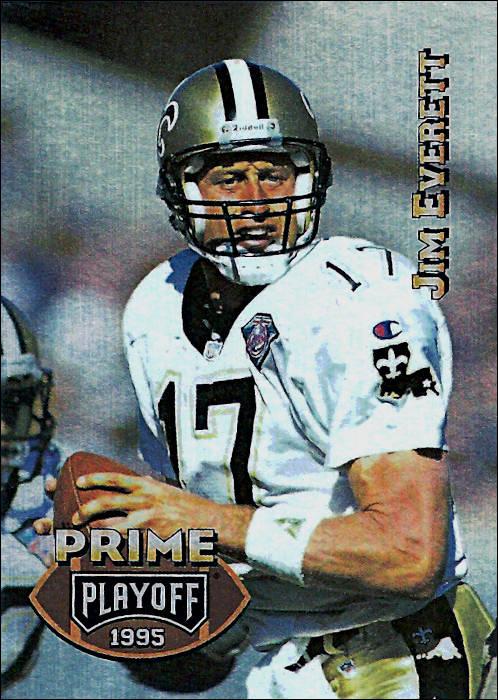 Jim Everett 1995 New Orleans Saints Playoff Prime Football Card