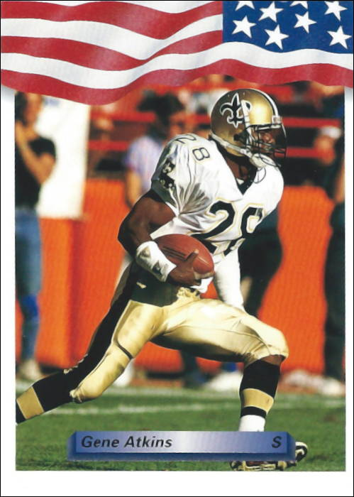 Gene Atkins 1992 New Orleans Saints All World Football Card
